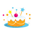 holiday cake isolated icon vector image