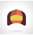 Corner seat flat color design icon vector image