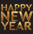 Happy New Year 3d golden text vector image