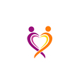 love couple sign abstract logo vector image