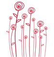 abstarct red roses vector image