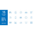 15 report icons vector image vector image