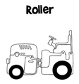 art of roller vector image vector image