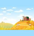 autmn landscape with farm vector image vector image
