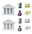 bank and money logo set of vector image