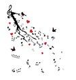Birds notes vector image vector image