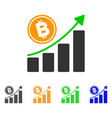 bitcoin growth trend icon vector image vector image