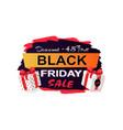 black friday sale 45 percent off promo sticker vector image vector image