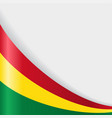 bolivian flag background vector image vector image