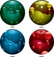 bubble button vector image vector image