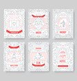 canada thin line brochure cards set country vector image vector image