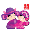 chinese wedding cartoon vector image vector image