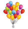colorful bunch of birthday balloons flying for vector image vector image