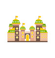 colorful fortress or stronghold with fortified vector image vector image