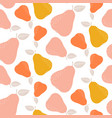 colorful seamless pear pattern repetitive simple vector image vector image