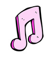 comic cartoon musical note vector image vector image