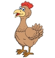 Cute hen cartoon vector image vector image