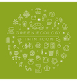 ECO thin icons eps10 format vector image