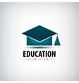 education logo icon isolated university vector image