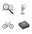 education sport and other monochrome icon in vector image