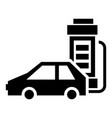 electric car charging icon simple style vector image
