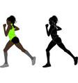 female marathon runner vector image