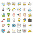 finance investment and analyze icon vector image vector image