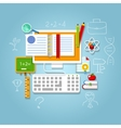 Flat design concepts for online vector image vector image