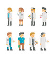 flat design medical staffs and doctors vector image