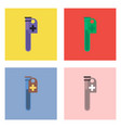 flat icon design collection test tube vector image vector image