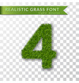 grass number four green number four isolated on vector image vector image