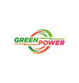 green power logo design symbol vector image vector image