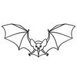 hand-drawn flying bat