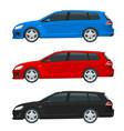hatchback car compact hybrid vehicle eco vector image vector image