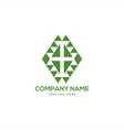health symbol geometric logo design vector image vector image