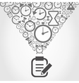 Hours from notebook vector image vector image