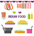 indian food dishes and ingredients set vector image