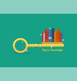 key to knowledge concept vector image vector image