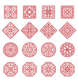 korean ornament traditional asian geometrical vector image vector image