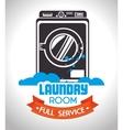 laundry full service design vector image