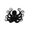 octopus or poulpe black contour icon vector image vector image
