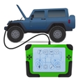 Off road vehicle diagnostics test service vector image vector image
