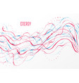 particle flow array colorful abstract background vector image vector image