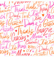 pattern of thank you in different languages vector image vector image