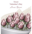 roses bouquet valentine day greeting card vector image