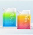 sachet bag or pouch with ribbed screw cap vector image vector image