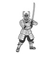 samurai warrior sketch vector image