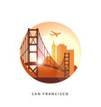 san francisco united states detailed silhouette vector image vector image