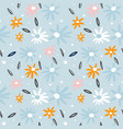 seamless pattern with flowersbranches creative vector image vector image