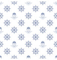 seamless travel pattern vector image vector image